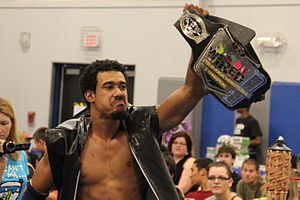 AR Fox - Fox with the CZW Wired TV Championship belt in August 2013