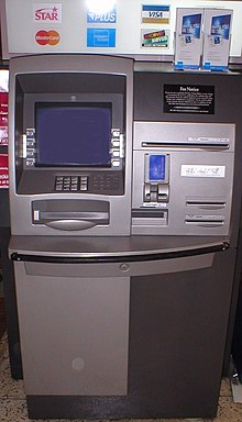 An NCR Personas 75-Series interior, multi-function ATM in the United States
