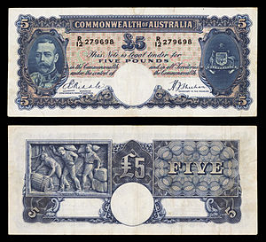AUS-23b-Commonwealth Bank of Australia-Five Pounds (1933–39).jpg