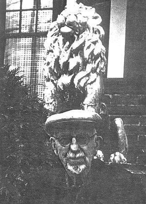 Andrew Willatsen - Andrew Willatsen in front of his Seattle home, 1973