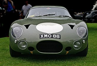 Aston Martin DP215 - DP215's front profile, showing triangular NACA ducts and large air intakes