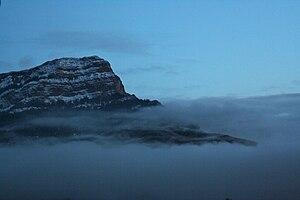 La Jacetania - Penya Uruel or Peña Oroel above the mist