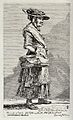 A beggar woman selling wares from a basket in her right hand Wellcome V0020364.jpg