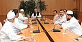 A delegation of AIUDF led by the MP (LS) and President of AIUDF, Shri Badruddin Ajmal calling on the Vice President, Shri Mohd. Hamid Ansari, in New Delhi on October 31, 2014.jpg