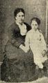 A esposa de Teofilo Braga com a sua filha Maria da Graça, falecida em 1887 - Ilustração Portugueza (02Fev1924).png