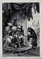 A fox is pleading before the lion dressed as king while an e Wellcome V0023067EL.jpg