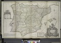 A new and exact map of Spain and Portugal, divided into its kingdoms and principalities etc ... NYPL1630451.tiff