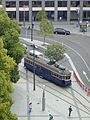 A tram viewed from the Cathedral Tower, Christchurch, NZ (4279227979).jpg
