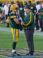 Aaron Rodgers and Mike McCarthy - San Francisco vs Green Bay 2012.jpg