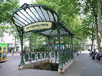 Abbesses (Paris Métro) - Image: Abesses entrance 1