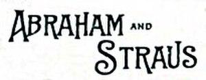 Abraham & Straus - Image: Abrahamstraus 1800s