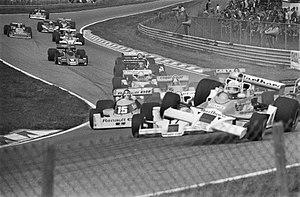 1977 Dutch Grand Prix - Image: Accident at 1977 Dutch Grand Prix
