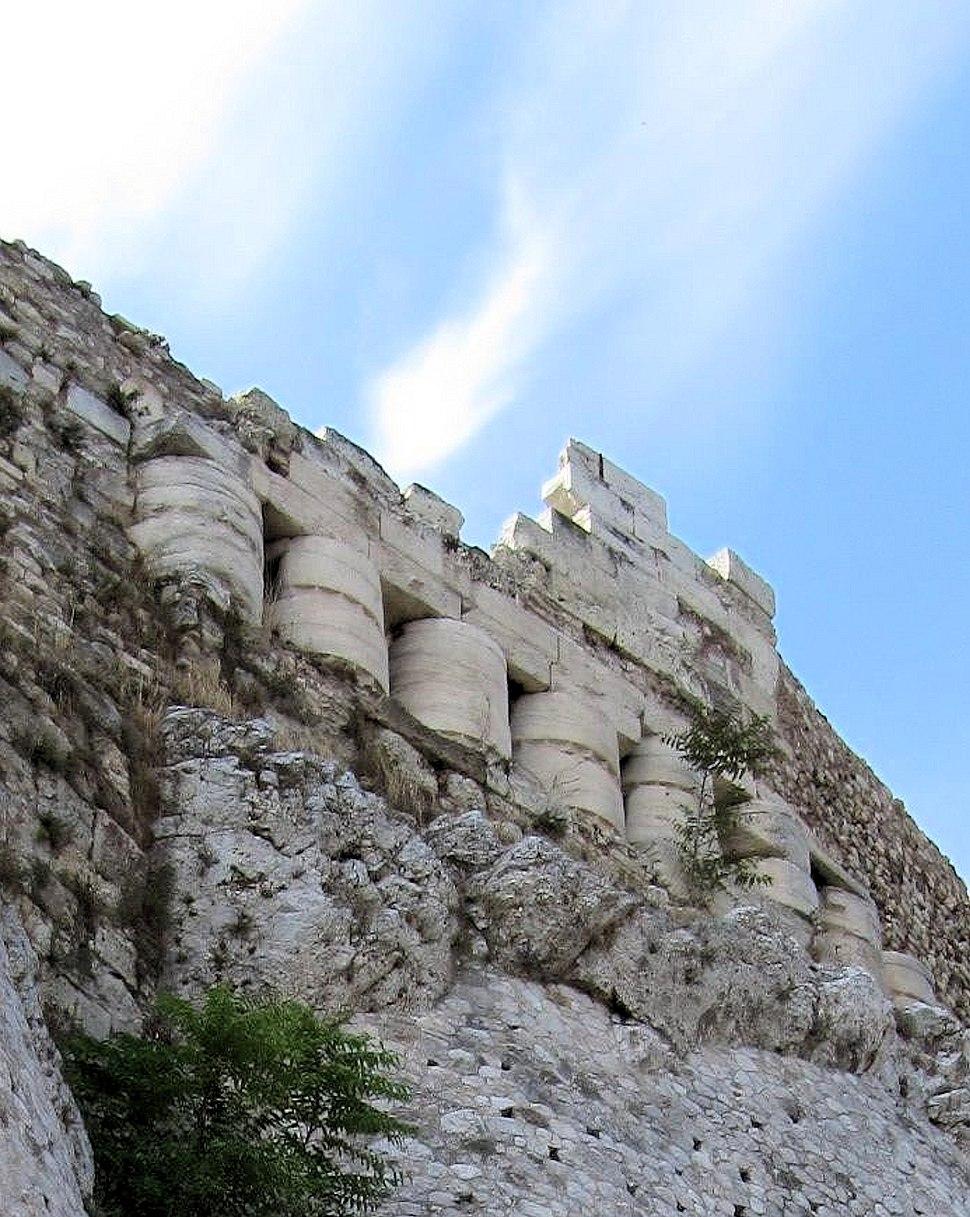 Acropolis North wall Older Partenon columns