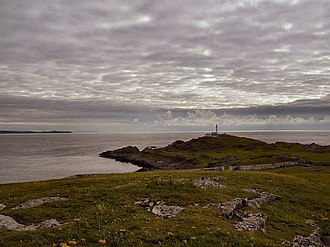 Inishtrahull Lighthouse - Distant view of the lighthouse
