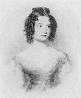 Ada Byron, portrait drawn at age 17