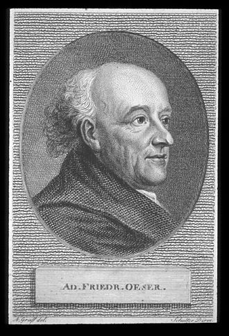 Adam Friedrich Oeser - Adam Friedrich Oeser in 1750 (Engraving from 1819 after an etching from 1750)