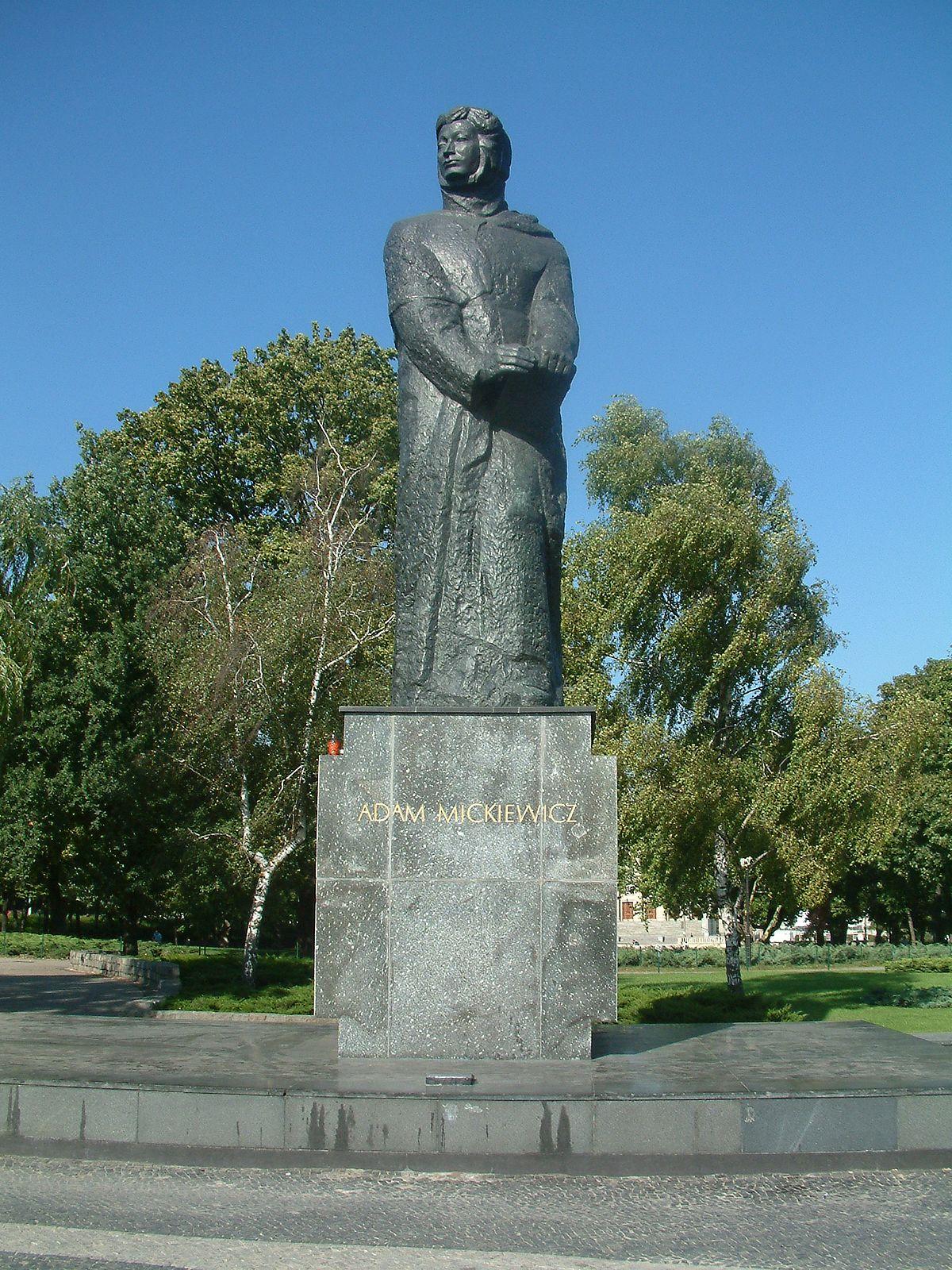 Pomnik Adama Mickiewicza w Poznaniu - Wikimedia Commons
