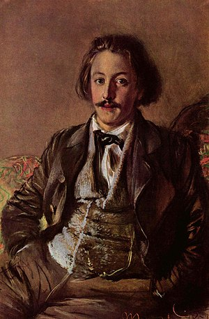 Paul Heyse - Portrait of Paul Heyse, by Adolph von Menzel