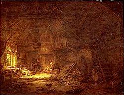 Adriaen van Ostade: Cottage Interior