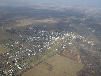 Quincy, Ohio - Aerial view of Quincy from the southeast