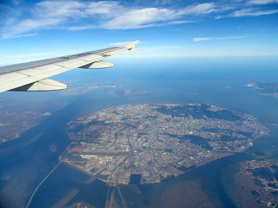 Aerial photography Xiamen Island
