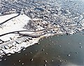 Aerial view of Old Leigh in the snow - geograph.org.uk - 1563688.jpg