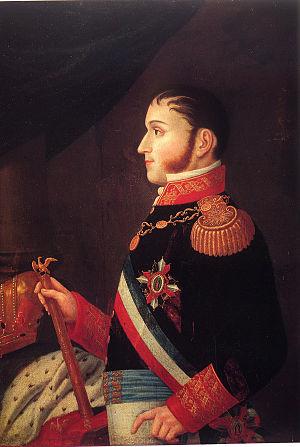 English: Half-length portrait of Agustin de It...