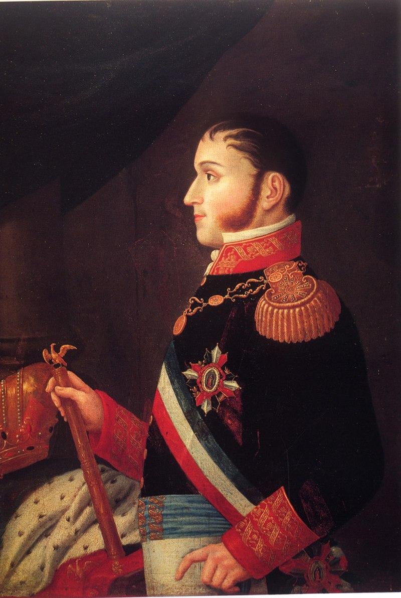 Agustín de Iturbide retrato del siglo XIX