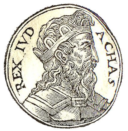 Achaz, d'après le Promptuarii Iconum Insigniorum (1553)