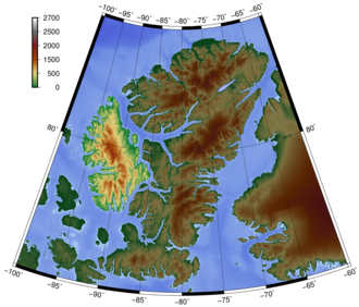 Axel Heiberg Island - Topography of Axel Heilberg Island