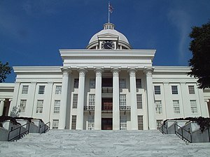 National Register of Historic Places listings in Montgomery County, Alabama - Image: Alabama state capitol, Montgomery