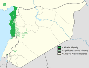 Sectarianism and minorities in the Syrian Civil War - The distribution of Alawites in the Levant.
