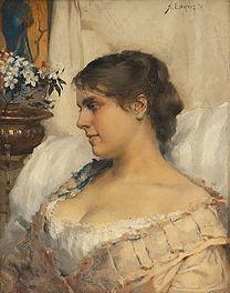 EDELFELT, Albert  Young woman in her boudoir 1879