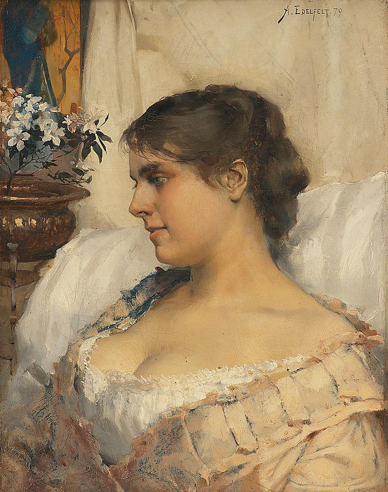 Albert Edelfelt-Ung kvinna i sin boudoir 1879.jpg