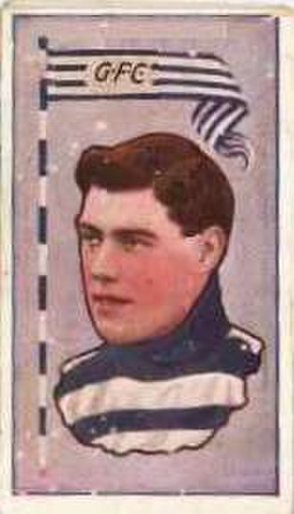 Alec Eason - Cigarette card of Eason in 1912
