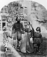 Alfred and Emily Tennyson with their sons at Farringford, by Oscar Gustave Rejlander.jpg