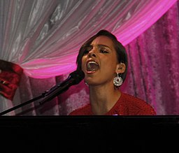 Alicia Keys performing at the second inauguration of Barack Obama 03