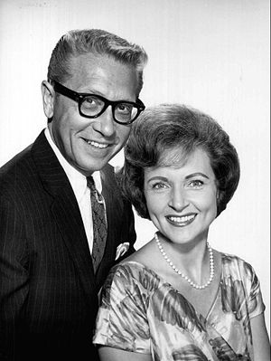 Allen Ludden - Ludden with wife Betty White (1963)