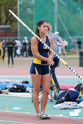 Pole vault - Pole vaulter Allison Stokke prepares for her jump
