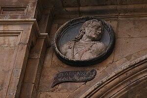 Alonso de Aragón - Medaillon at Plaza Mayor, Salamanca