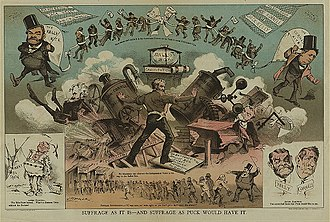 Alonzo B. Cornell - Cartoon depicting the battle between Cornell and the Tammany Hall machine
