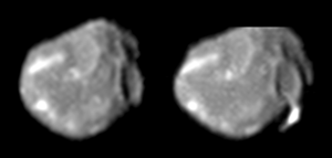 Amalthea (moon) - Greyscale Galileo images of Amalthea