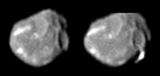 Amalthea (moon) - Greyscale Galileo images of Amalthea