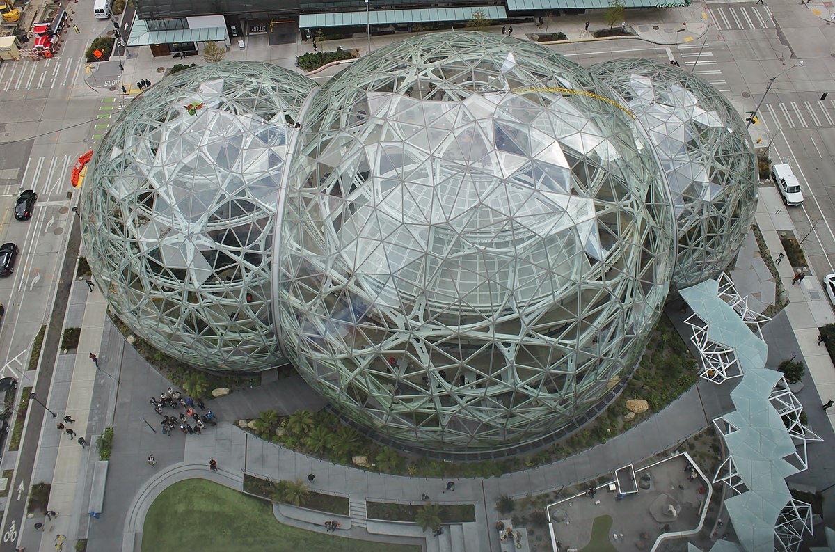 Amazon Spheres from Day 1 (41246595761).jpg