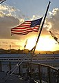 American Flag at half-mast, USS Blue Ridge (LCC-19) (39491231895).jpg