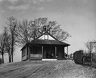 One-room school - Amish schoolhouse in Lancaster County, Pennsylvania, in 1941.