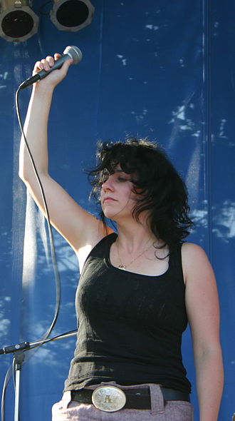 Amy Millan - Performing with Broken Social Scene at the Intonation Music Festival, 2005