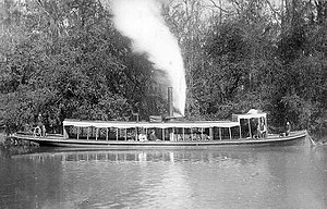 Amite River - Image: An excursion steamer on the Amite River in Louisiana (circa 1895)