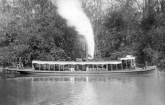 Amite River - Image: An excursion steamer on the Amite River in Louisiana (circa 1895)