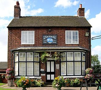 High Offley - The front view of the Anchor Inn